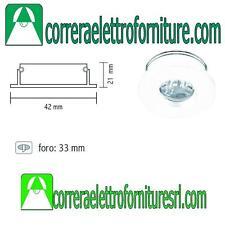 Faretto a led incasso rotondo bianco 1W luce calda 3200K STONE 10296/C