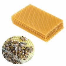 10pcs Yellow Honeycomb Foundation Bee Hive Wax Frames Beekeeping Equipment Sheet