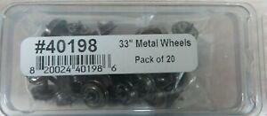 "Bowser  HO-Scale 33"" Blackened Metal Wheels (Pack of 20 / 40198) NIB FREE SHIP"