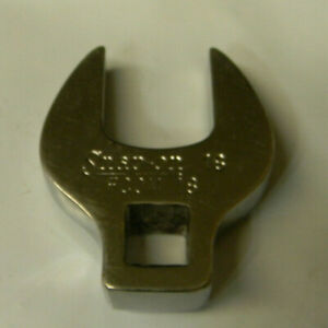 """SNAP-ON 3/8"""" DRIVE 18MM OPEN END CROWFOOT WRENCH #FCOM18"""