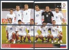 PANINI EURO 2008- #437/438/439/440-ROSSIJA-RUSSIA TEAM PHOTO