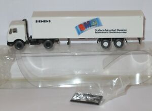 WIKING HO 1/87 CAMION MB MERCEDES 1644 SEMI REMORQUE SIEMENS SMD BLANCHE BOX 3