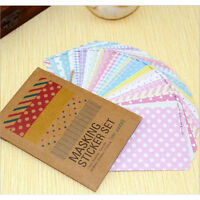 27PCS Washi Scrapbook Masking Stickers Tape Craft Pack Decorative LabellingLF