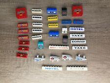 Lego 34x bedruckte Steine Hotel Bahnhof Fabrik Taxe Garage Police