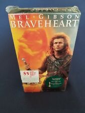NEW! [VHS] 1995 BRAVEHEART - Tape Factory Sealed - Mel Gibson Academy Awards