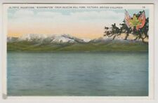 Canada postcard - Olympic Mountains, Beacon Hill Park, Victoria, B.C