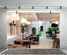 Restaurant Interior Backdrop Prop Background Studio 10x6.5ft Vinyl Photography