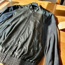 Adidas Y3 Leather Bomber Jacket Large