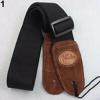 HK- Black Widening Acoustic Electric Guitar Bass Adjustable Belt Strap Exquisite