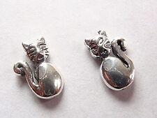 Kitty Cat Stud Earrings 925 Sterling Silver Corona Sun Jewelry
