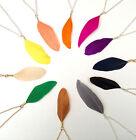 coloré LUCKY plume vrai étrange INHABITUEL collier boho bohème