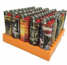 8 Regular full size BIC Cigarette Lighters, Special Edition Assorted Lighters