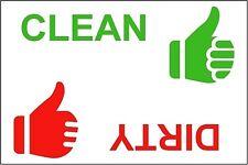 KITCHEN FRIDGE MAGNET - DISHWASHER CLEAN / DIRTY