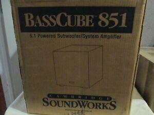 Cambridge Soundworks BassCube 851 5.1 Surround Amplifier SubWoofer.  NICE!