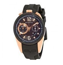 New Mens Bomberg NS39CHTT.0074.2 Swiss Made Chrono Black Rubber Strap Watch