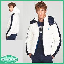 Giubbotto uomo invernale North Sails giacca con cappuccio in nylon ristop bianco