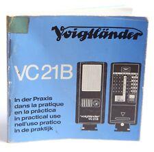 VOIGTLANDER VC21B Flash Flash Guida - 59 PAGINE - 10cm x 10cm-BROCHURE OPUSCOLO