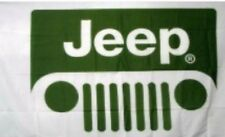 Jeep Grille 3X5Ft Flag Banner Green Wrangler Cherokee Renegade White