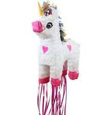 Girls Cute Large Rainbow Unicorn Pull Pinata Birthday Fun Party Game Activity