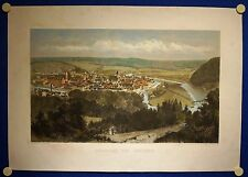 HANN. MÜNDEN - sehr schöne grossformatige kolorierte Ansicht - Original 1877!