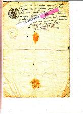 Document manuscrit timbre royal sec& humide 1830