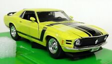 Nex 1/24 Scale - 1970 Ford Mustang Boss 302 Yellow Diecast model car