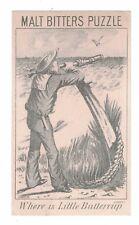 Malt Bitters Victorian Trade Card-Sailor - Where is Buttercup - Quack Medicine