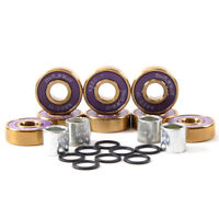 Dark Wolf Skateboard Bearings Titanium ABEC-11 Purple Gold 8pcs with 4x Spacers