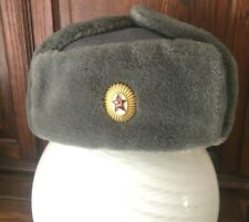 More details for cccp soviet east german berlin wall army trapper winter hat large l xl 59cm grey