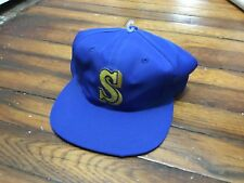 NWT Vintage MLB Seattle Mariners Snapback Hat Cap Twins Brand FREE SHIPPING