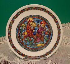 D'Arceau Limoges Decorative Plate Christmas Noel Vitrail 1 Cn 758