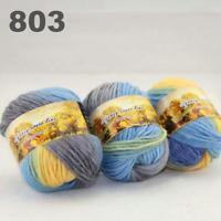 Sale New 3 Skeinsx50g Rainbows Coarse Hand Knit Quick Wool Yarn Shawl Scarves 03