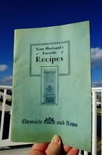 c.1930 Your Husband's Favorite Recipes Cookbook CHRONICLE AND NEWS, ALLENTOWN PA
