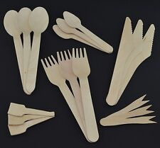 Wooden Cutlery (Wood Tea Spoons, Spoons, Spades, Forks, Knives) Eco Friendly
