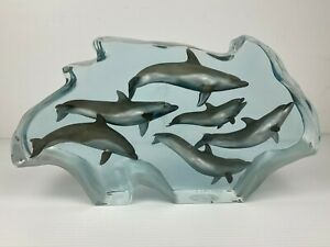 "Kitty Cantrell Signed Dolphin Sculpture 197/500 Genesis Ltd. Edition 14.5"" x 8"""