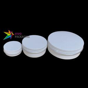 Glossy White Aluminium Tin, Screw Cap, Lip Balm Jar Container, Small Round Tins