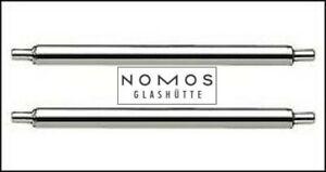 NOMOS Federstege/Springbars: 2x18mm Orion/Tetra 35 or 2x19mm Tangente/Ludwig 38