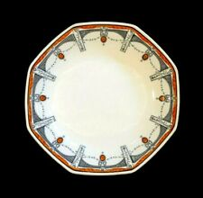 Beautiful Royal Doulton Art Deco Claremont Oval Serving Bowl, Orange, Circa 1912