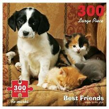 300 Piece Best Friends Puzzle - Black and White Puppy Dog with 2 Kittens