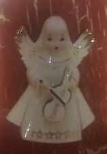 Vintage Japan Ceramic SINGING Christmas ANGEL w/ Violin Figurine Decoration