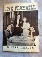 You Never Know Playbill October 1938 Broadway Winter Garden Theatre Clifton Webb