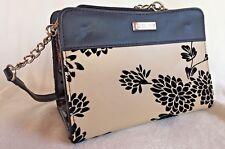 Miche Handbag Purse Black Tan Floral