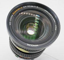Minolta MD Rokkor-X Zoom 24-50mm F4 Lens SLR/Mirrorless Cameras Serial #1002334