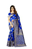Sari Saree Banarasi Party Silk Wedding Indian Wear Traditional Soft Art Jacquard