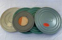 """5 Vintage Film Reel lot 8mm Family Amateur 7"""" 5"""" Reelane Compco Bell & Howell +"""