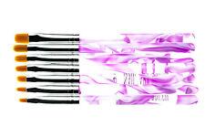 Pinselset 7 Pinke Nailart Pinsel für UV-Gel & Acryl auf Natur oder Kunstnägel