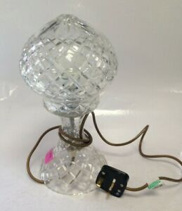 Clear Glass Lamp Diamond Design Tested And Working #55100