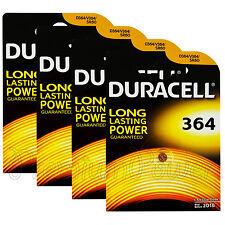 4 x Duracell Silver Oxide 364 1.5V batteries watch D364 V364 SR60 SR621SW AG1