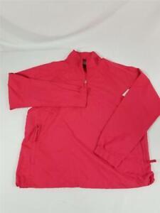 Nike Golf Fit Storm Womens Medium 1/4 Zip Windbreaker Lightweight Jacket Coral