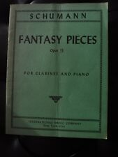 Schumann Fantasy Pieces Opus 73 for Clarinet (or Cello) and Piano - PIANO SCORE